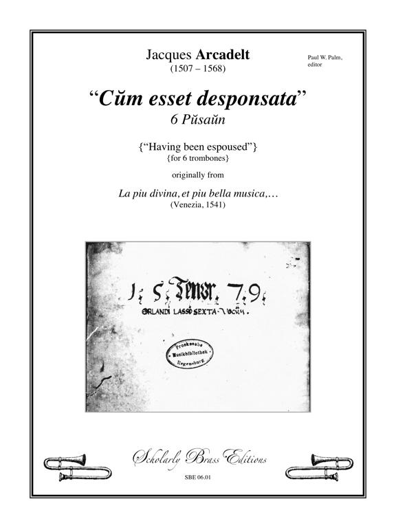 06.01 Arcadelt - title page